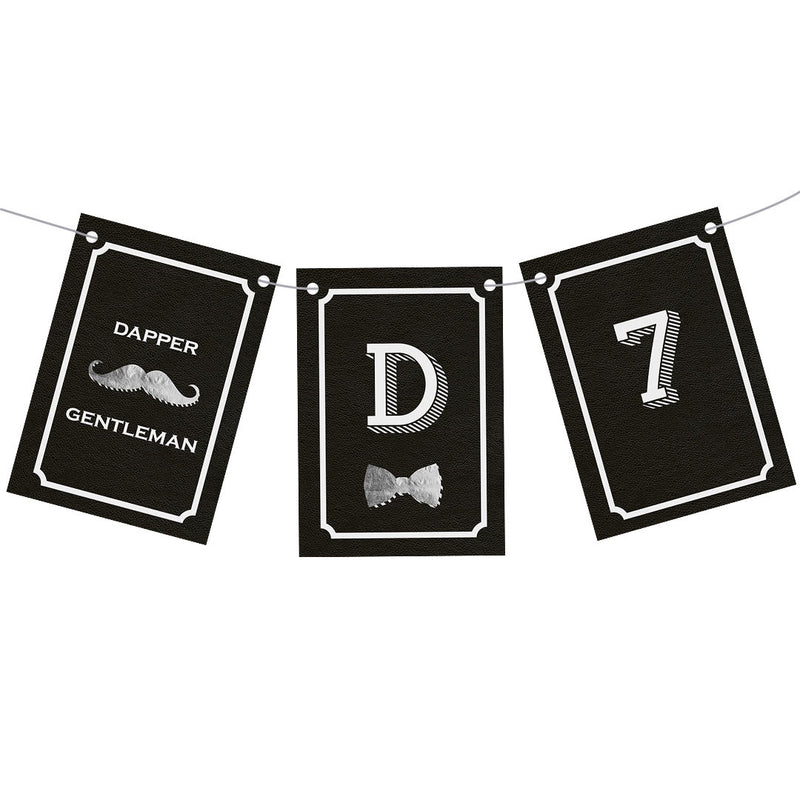 Dapper Gentleman : Black Bunting  Personalisable Bunting Hello Party - All you need to make your party perfect!  - Hello Party