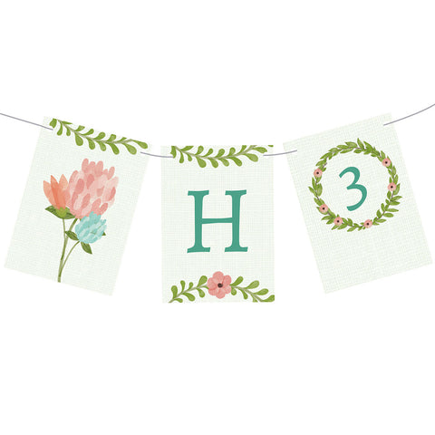 Dreamy Blooms Bunting