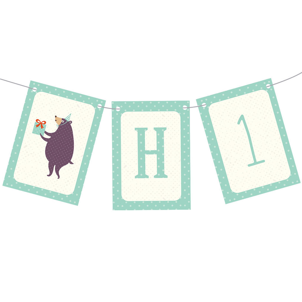 Dotty Creatures Bunting  Personalisable Bunting Hello Party - All you need to make your party perfect!  - Hello Party