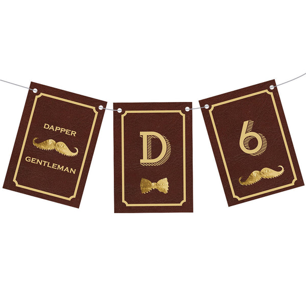 Dapper Gentleman Bunting  Personalisable Bunting Hello Party - All you need to make your party perfect!  - Hello Party