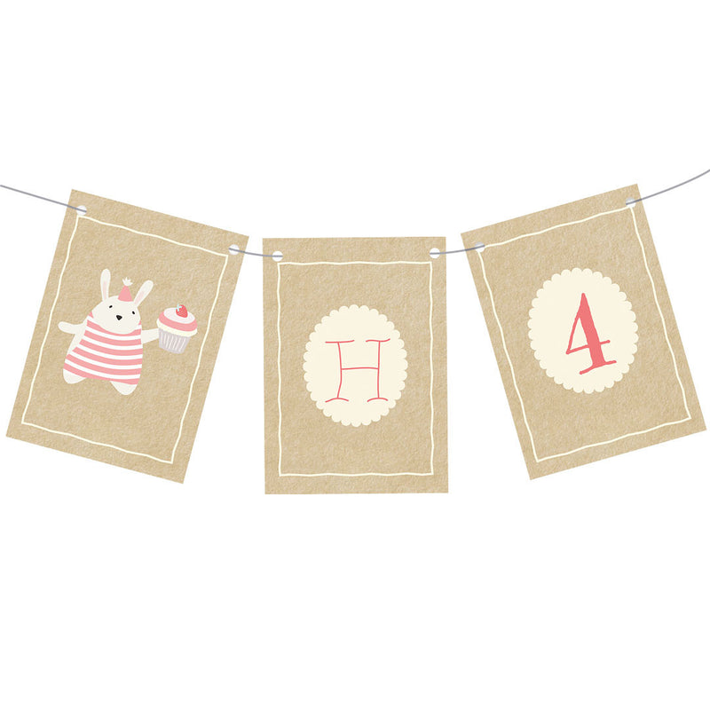 Cute Tea Party Bunting  Personalisable Bunting Hello Party - All you need to make your party perfect!  - Hello Party