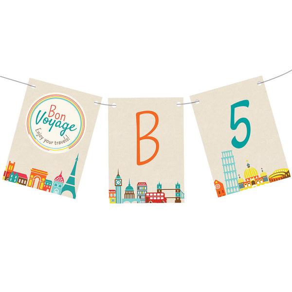 City Hopping Bunting  Personalisable Bunting Hello Party - All you need to make your party perfect!  - Hello Party