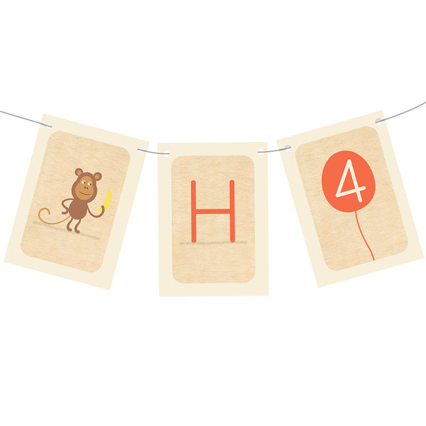 Cheeky Animal Party Bunting  Personalisable Bunting Hello Party - All you need to make your party perfect!  - Hello Party