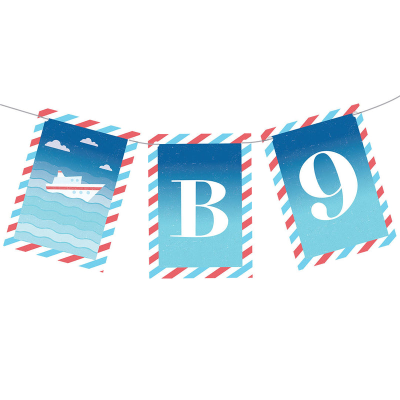 By Boat or By Plane Bunting  Personalisable Bunting Hello Party - All you need to make your party perfect!  - Hello Party