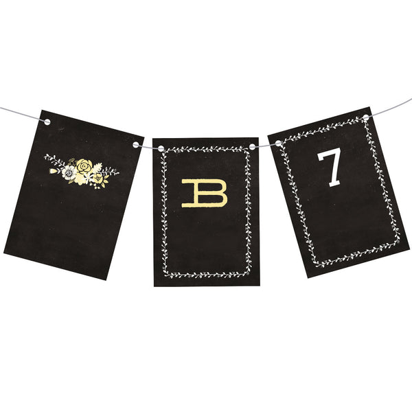 Blackboard Baby Shower Yellow Bunting  Personalisable Bunting Hello Party - All you need to make your party perfect!  - Hello Party