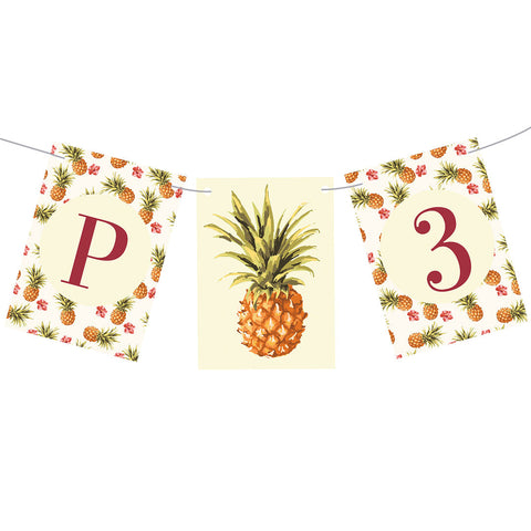 Birthday Pineapples! Bunting