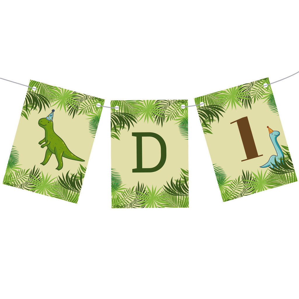 Birthday Dinosaurs Bunting  Personalisable Bunting Hello Party - All you need to make your party perfect! - Hello Party