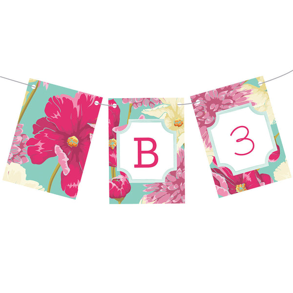 Big, Bright Blooms Bunting  Personalisable Bunting Hello Party - All you need to make your party perfect! - Hello Party