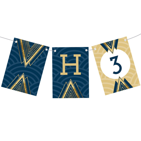 Art Deco Bunting  Personalisable Bunting Hello Party - All you need to make your party perfect!  - Hello Party