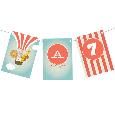Balloon Trip Bunting  Personalisable Bunting Hello Party - All you need to make your party perfect!  - Hello Party