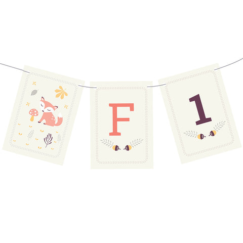 1st Birthday Forest Bunting