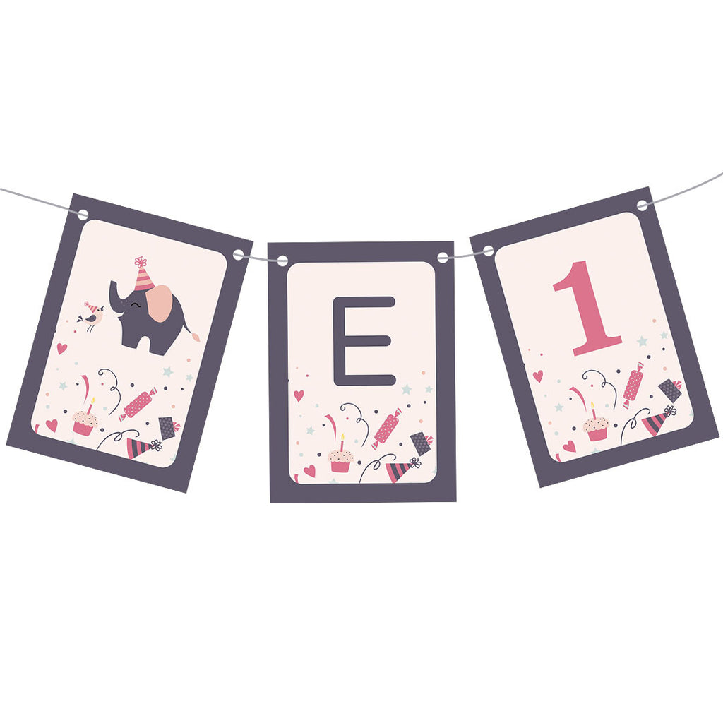 Elephant Party Popper Bunting