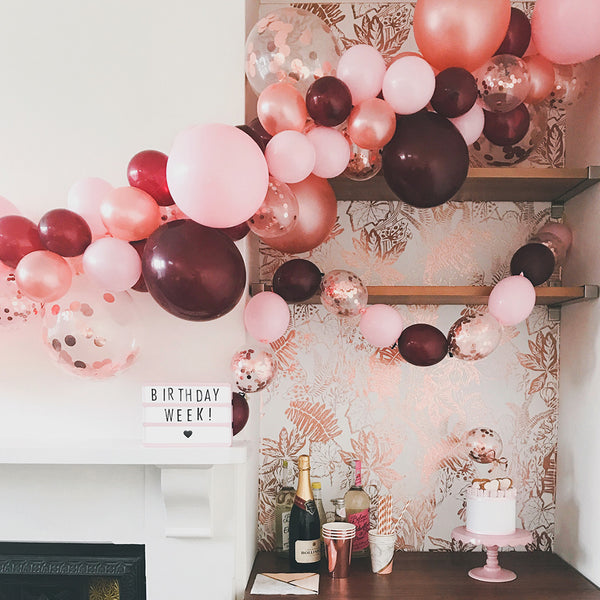Burgundy Dreams Balloon Cloud Kit  Balloon Cloud Kit Hello Party - Hello Party