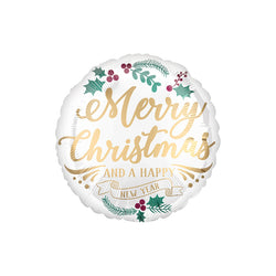 Christmas & New Year Satin Round Foil Balloon  Standard Foil Balloons Anagram - Hello Party