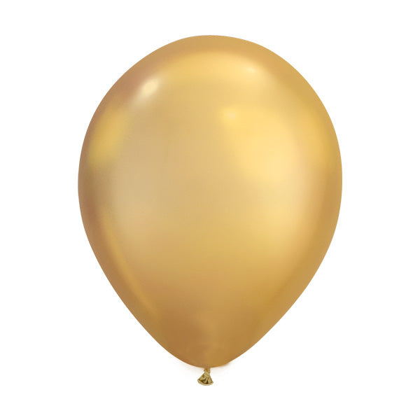 Chrome Gold Balloons (pack of 5)  Latex Balloons Hello Party Essentials - Hello Party