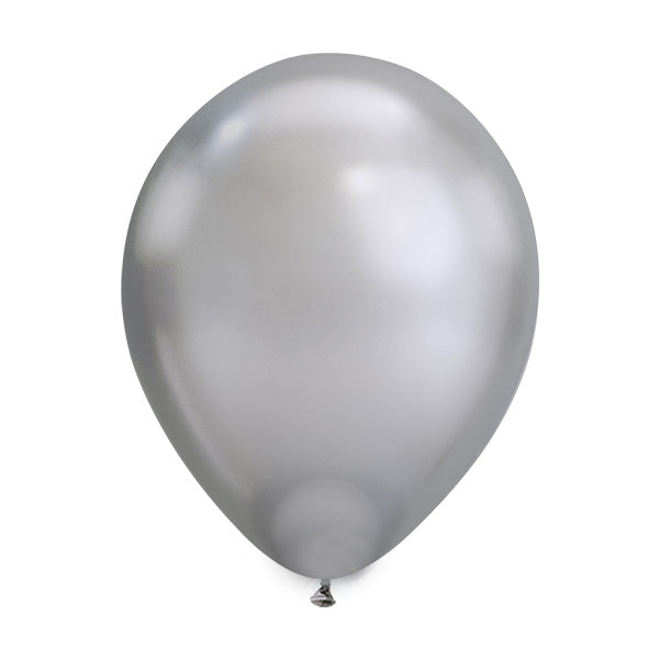 Chrome Silver Balloons (pack of 5)  Latex Balloons Hello Party Essentials - Hello Party