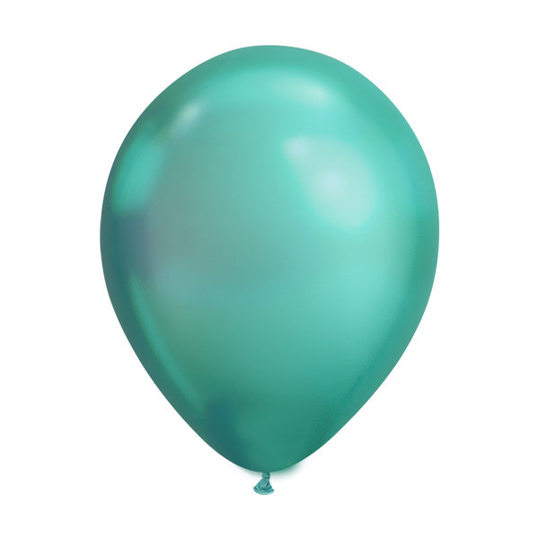 Chrome Green Balloons (pack of 5)  Latex Balloons Hello Party Essentials - Hello Party