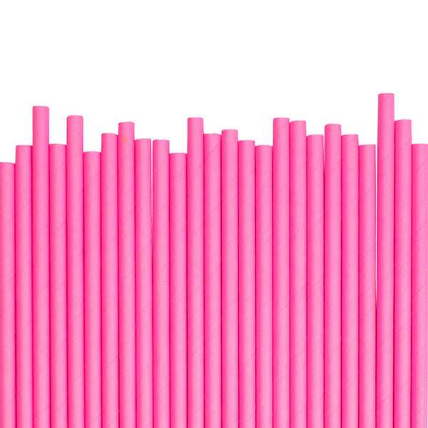 Neon Pink Paper Straws (25 pack)  Paper Straws Ginger Ray - Hello Party
