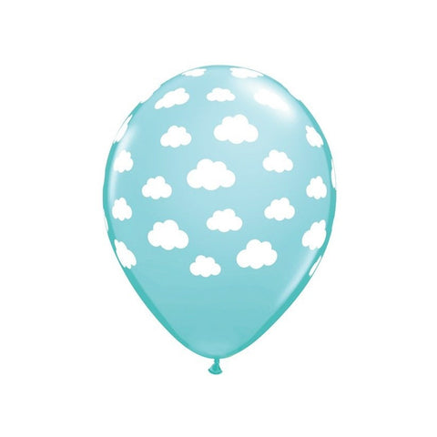 Blue and White Cloud Patterned Balloons