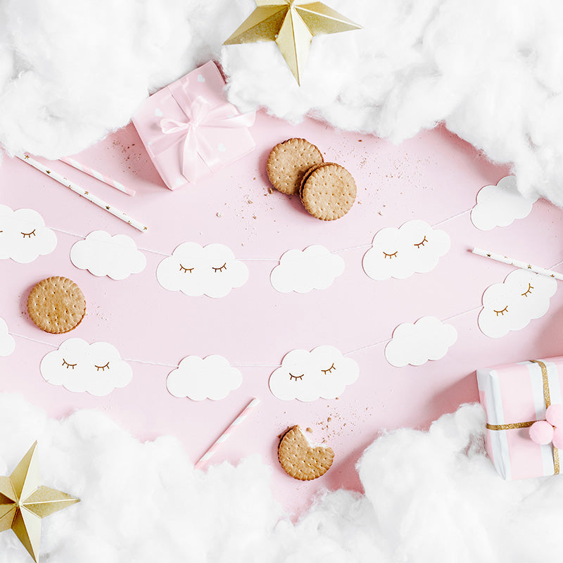 Little Sleepy Cloud Paper Garland  Garland Party Deco - Hello Party