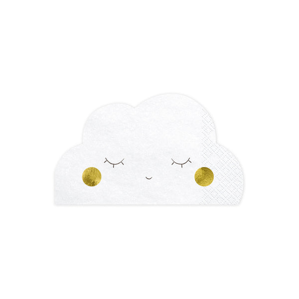 Cute Cloud Shaped Paper Napkins  Napkins Party Deco - Hello Party