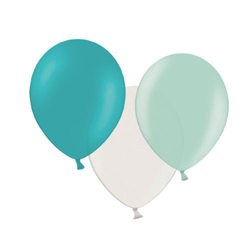 Teal Magic Mix Balloons (pack of 12)  Latex Balloon Collections Hello Party Essentials - Hello Party