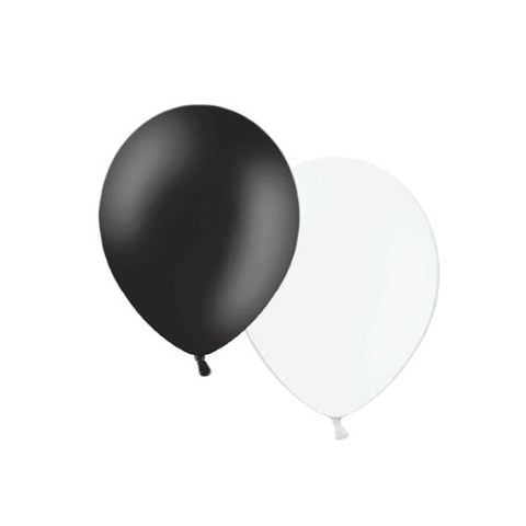 Black & White Mono Mix Balloons  Latex Balloon Collections Hello Party Essentials - Hello Party