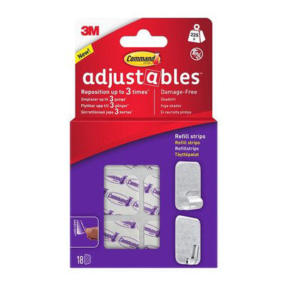 3M Command Adjustables Refill Strips