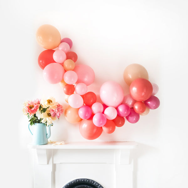 Coral Charm Balloon Cloud Kit  Balloon Cloud Kit Hello Party - Hello Party