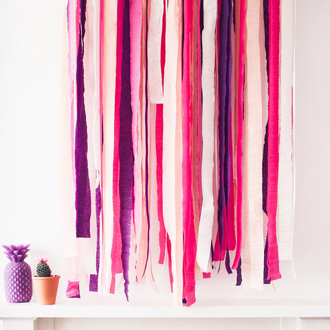 Crepe Streamer Decorations  Crepe Streamer Hello Party Essentials - Hello Party