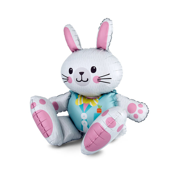 Adorable Sitting Bunny Balloon  Balloons Anagram - Hello Party