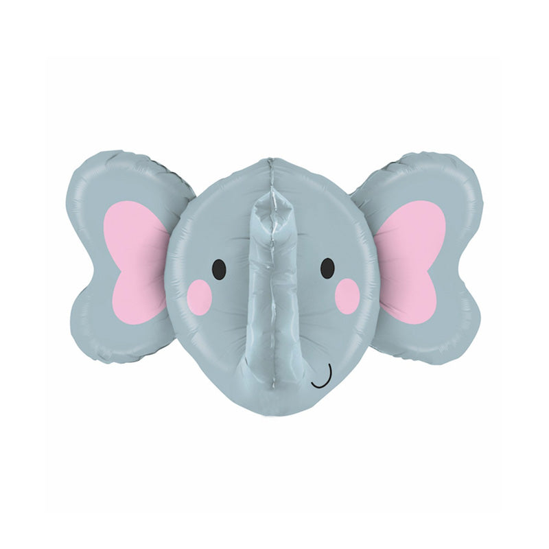 "Cute Elephant Multi Sided Foil Balloon (34"")  Balloons Betallic - Hello Party"