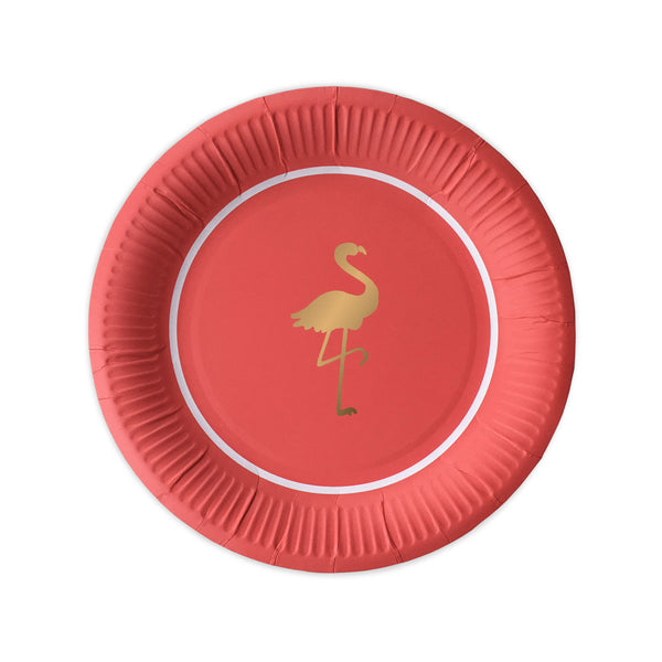 10 Preppy Flamingo Paper Plates  Party Plates Delight Department - Hello Party