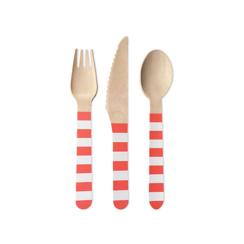 Preppy Flamingo Cutlery