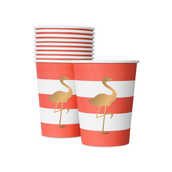 10 Preppy Flamingo Cups  Party Cups Delight Department - Hello Party