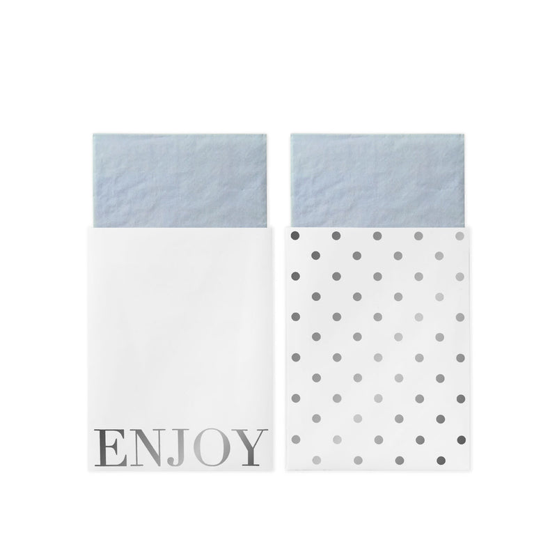 White Silver Napkins In Bags  Napkins Delight Department - Hello Party