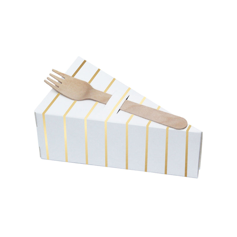 Gold Striped Pie Boxes (pack of 10)  Cake Boxes Delight Department - Hello Party