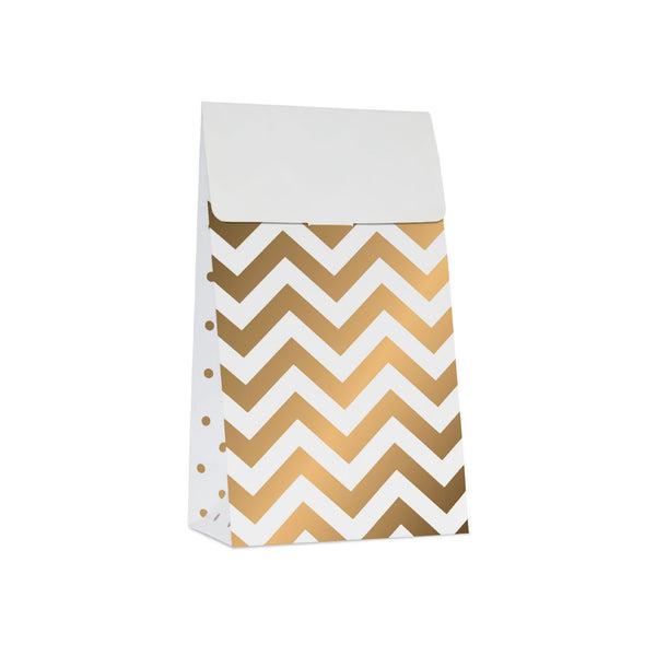 10 White and Gold Treat Bags  Party Bags Delight Department - Hello Party