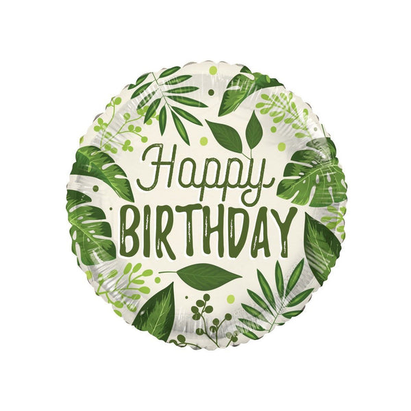 Happy Birthday Botanical ECO foil balloon