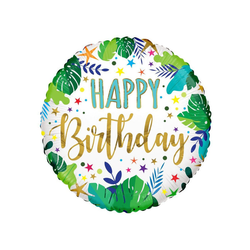 Happy Birthday Jungle ECO foil balloon