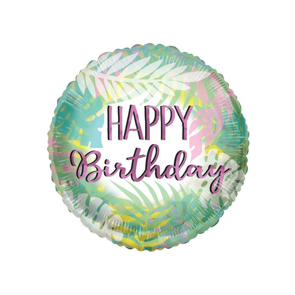 Happy Birthday Tropical Pastel ECO foil balloon