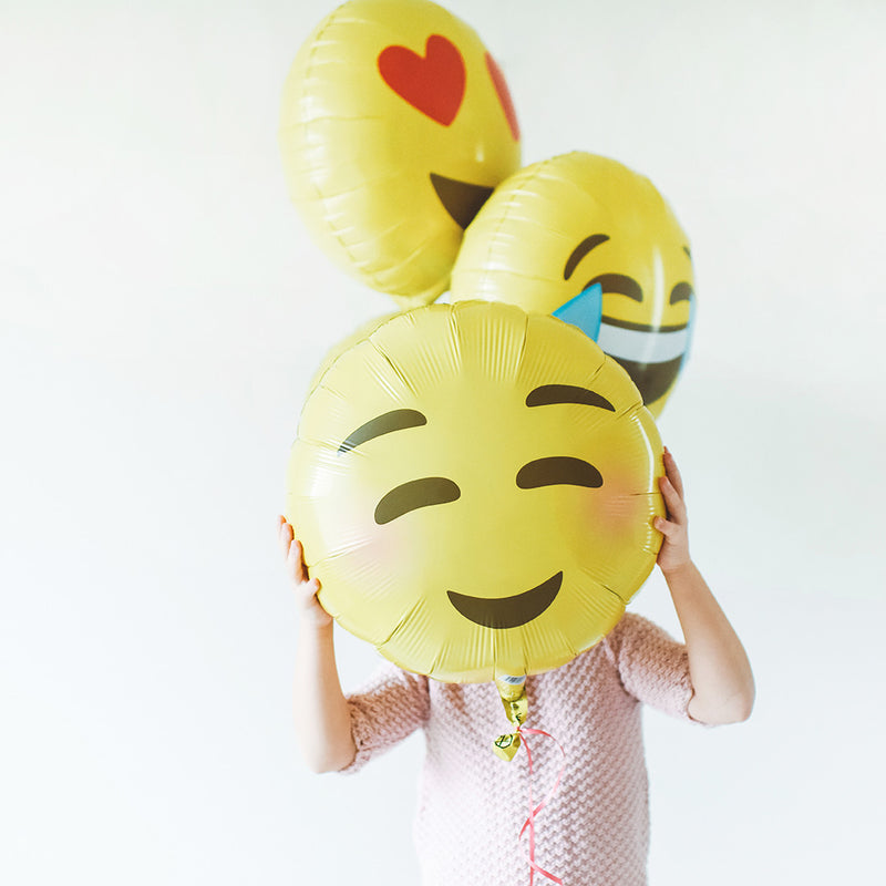 "Smiling Blushing Emoji 18"" Foil Balloon"
