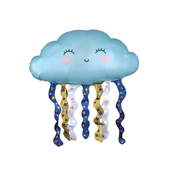 Cute Smiling Cloud Foil Balloon Supershape Balloons Anagram - Hello Party