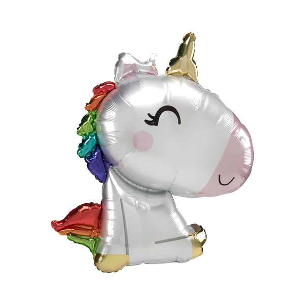 Cute Sitting Rainbow Unicorn Balloon