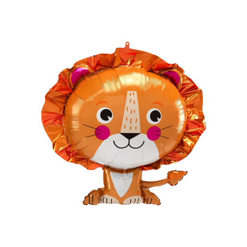 Cute Sitting Lion Foil Balloon