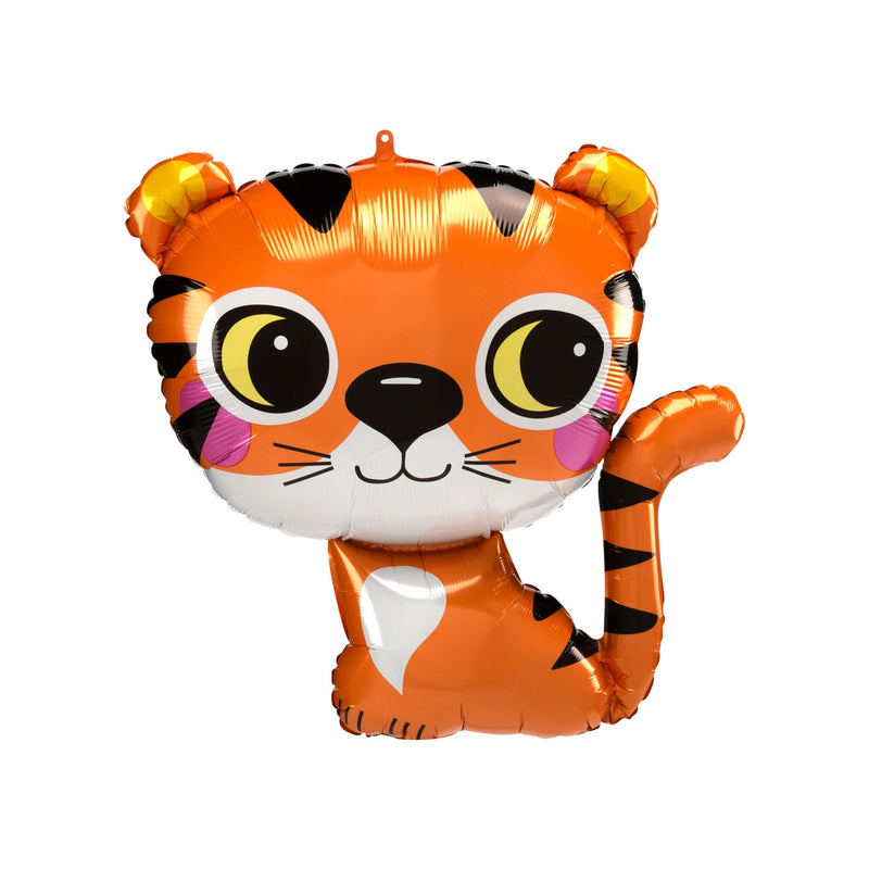 Cute Sitting Tiger Foil Balloon
