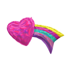 Iridescent Shooting Heart Rainbow Foil Balloon