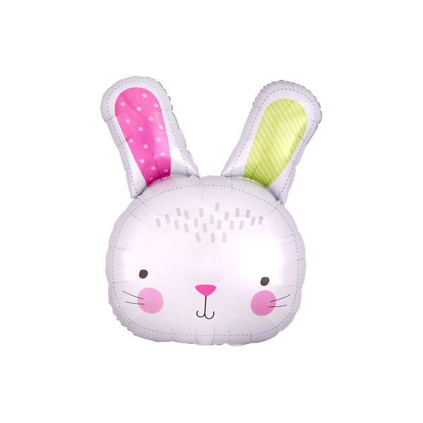Happy Bunny Easter Hello Party Fun Foil Shape Balloons