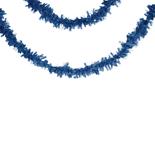 True Blue Fringe Tissue Garland