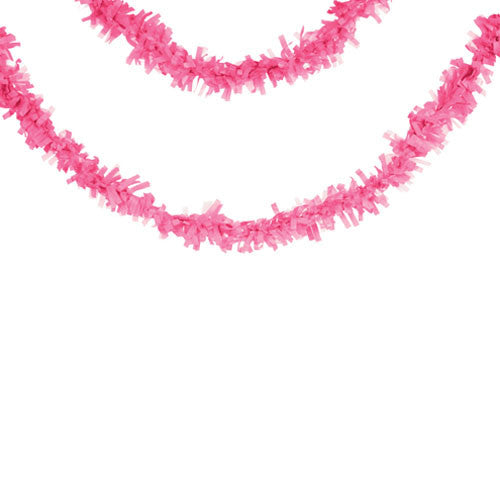 Candy Pink Fringe Tissue Garland  Garland HelloPartyUK - Hello Party